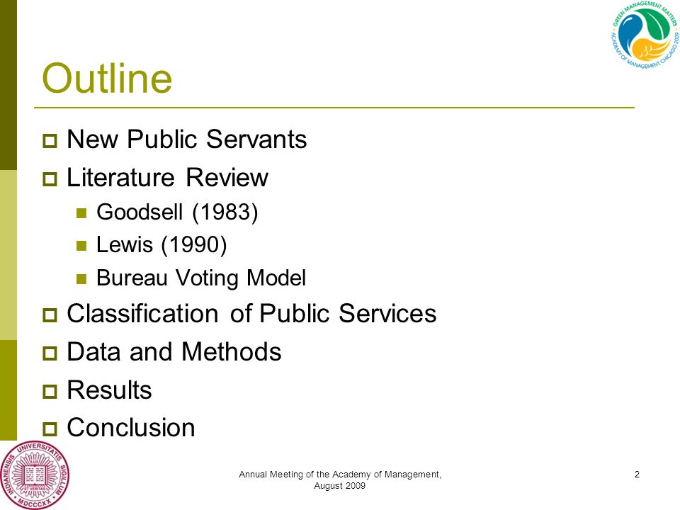 Annual Meeting of the Academy of Management, August 2009 13 Result: Government Spending