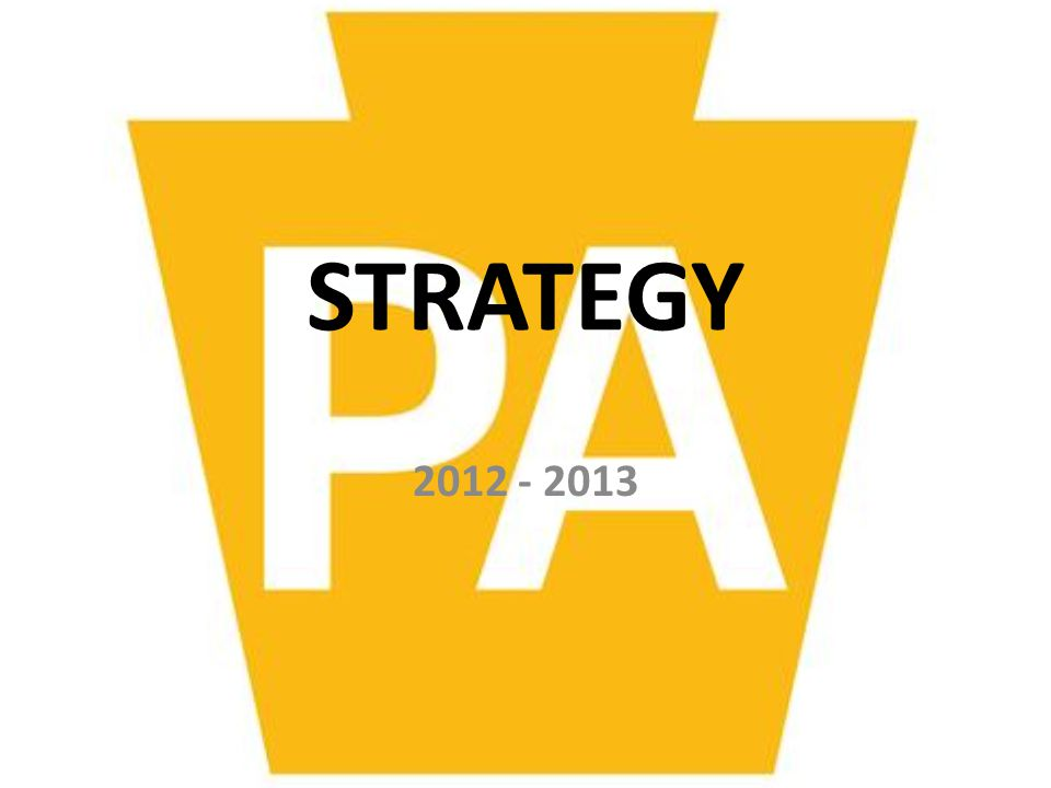 STRATEGY 2012 - 2013