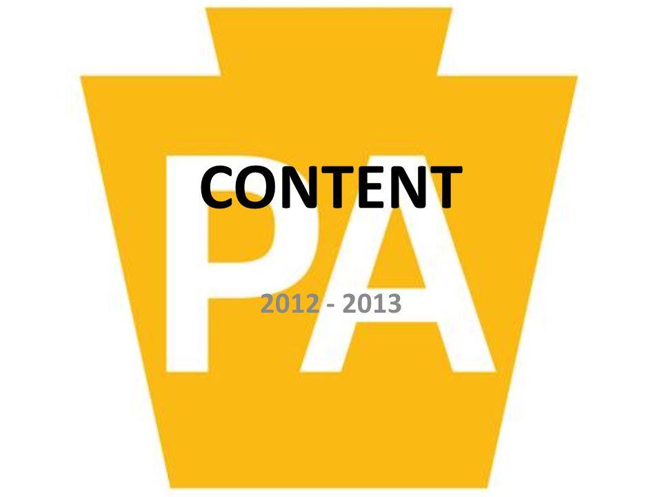 CONTENT 2012 - 2013