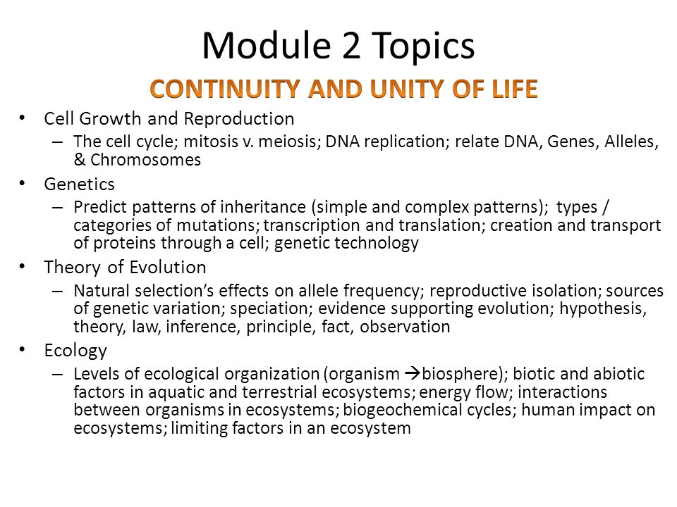Module 2 Topics