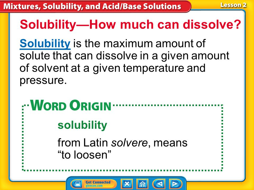 If a solution contains only liquids or gases, its concentration is stated as the volume of solute in a given volume of solution. Percent by volume is