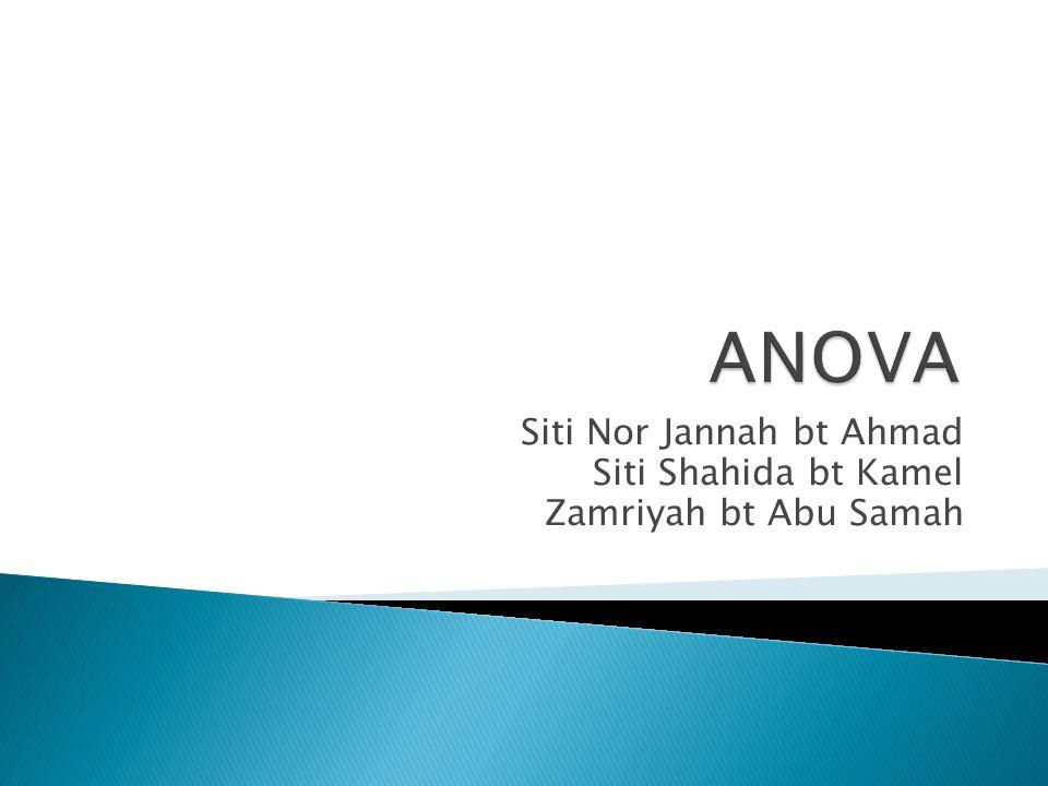 Siti Nor Jannah bt Ahmad Siti Shahida bt Kamel Zamriyah bt Abu Samah