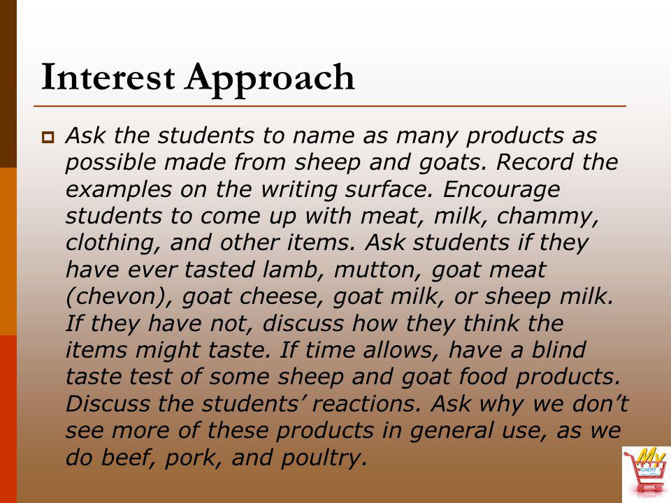  2.Many other terms should be known in reference to meat cuts taken from sheep and goats.