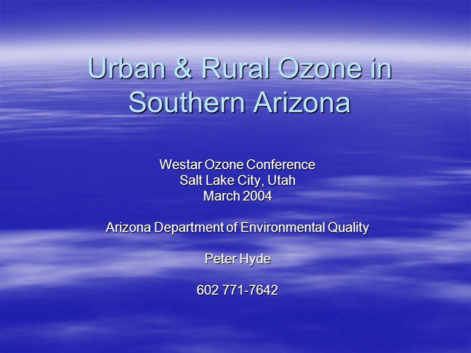 Diurnal patterns in 1-hr ozone July 1998 averages