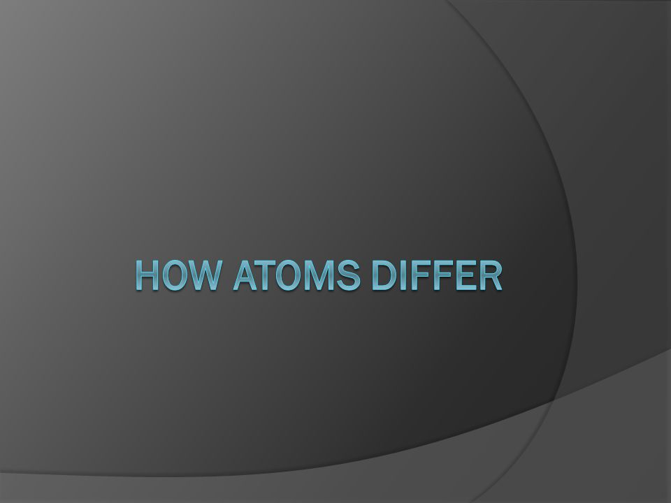 Atomic Number (Z)  Identity of each element is determined by the number of protons in the nucleus.