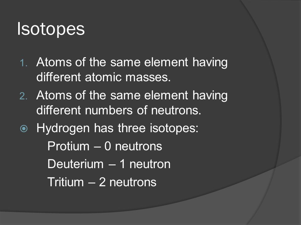 Sample #2  Neon has two isotopes.