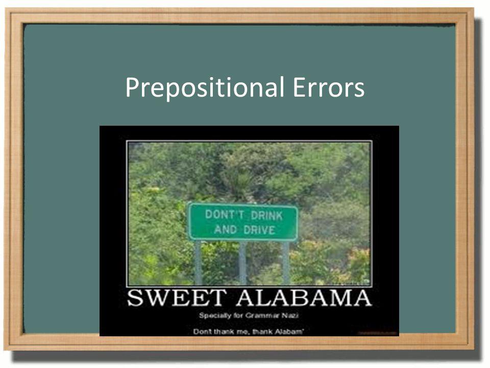 Prepositional Errors