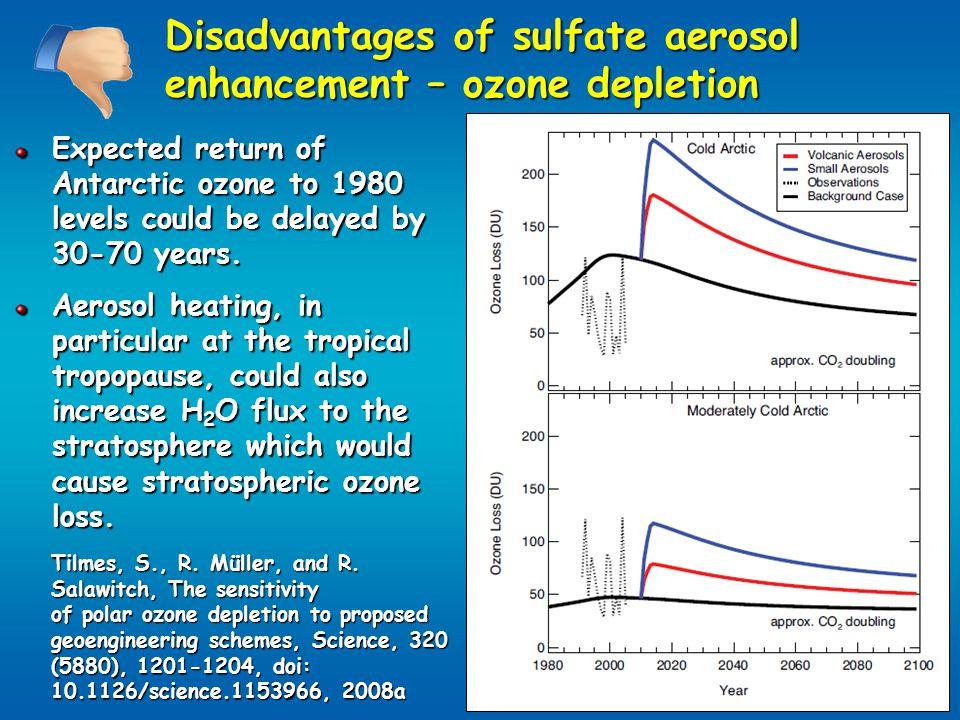 Disadvantages of sulfate aerosol enhancement – ozone depletion Tilmes, S., R.