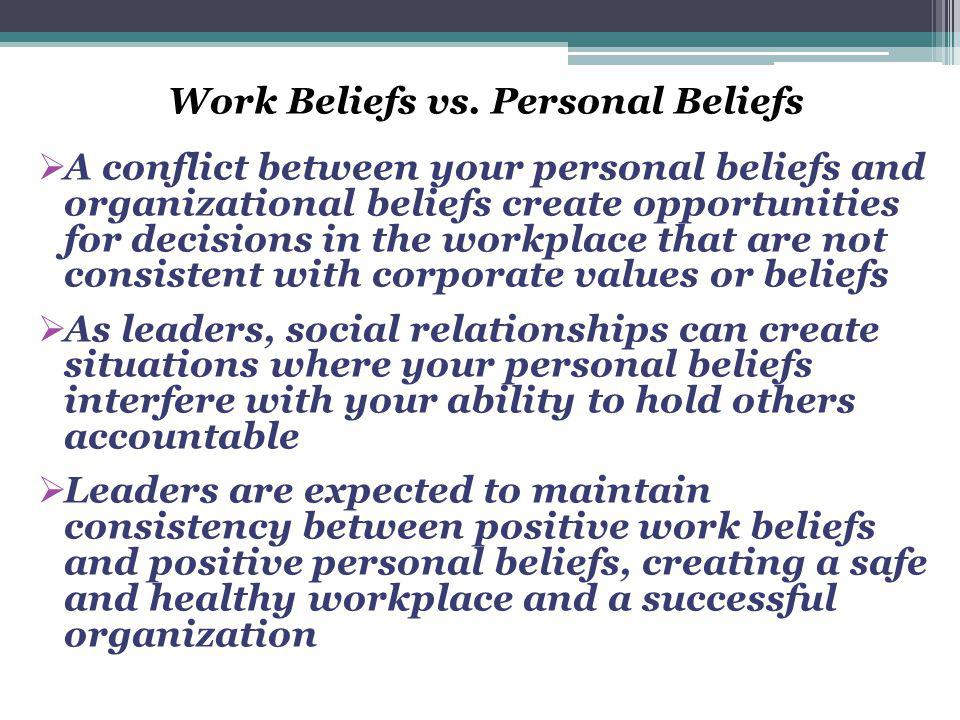 Work Beliefs vs.