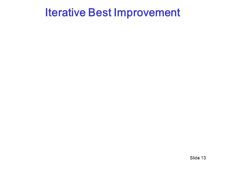 Iterative Best Improvement Slide 13
