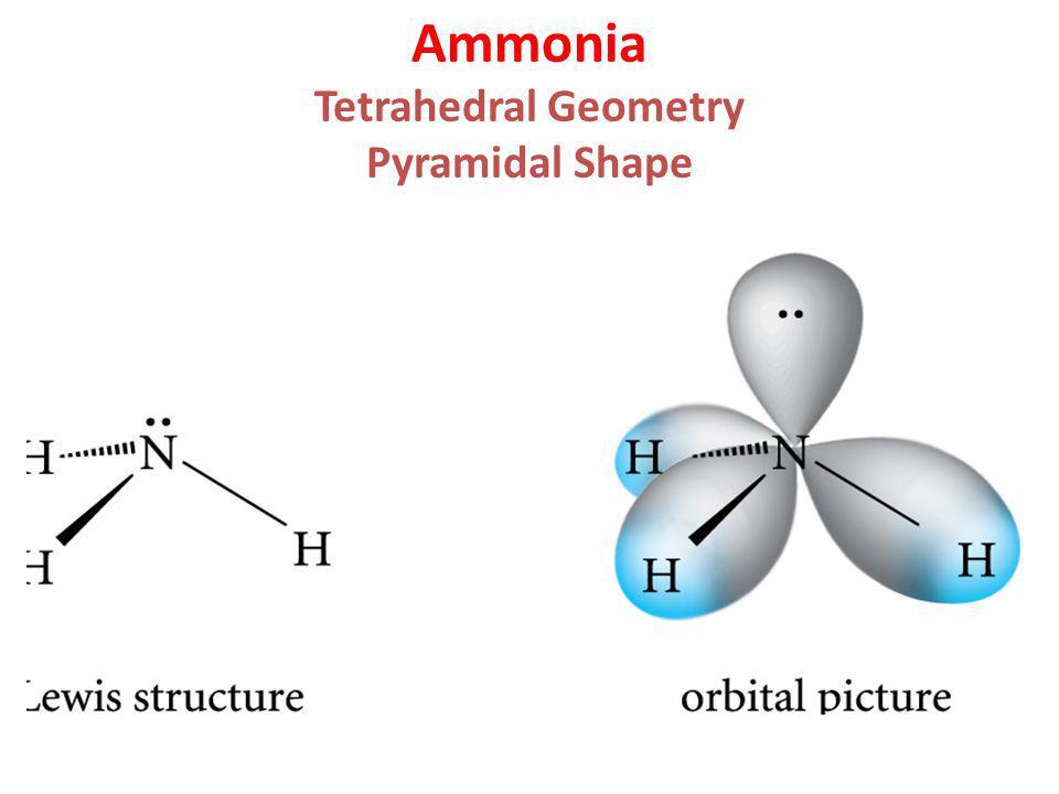 Ammonia Tetrahedral Geometry Pyramidal Shape