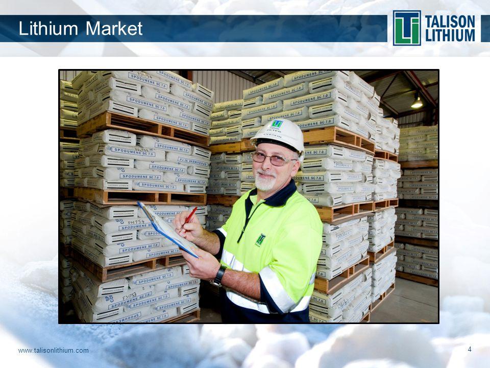 www.talisonlithium.com 4 Lithium Market