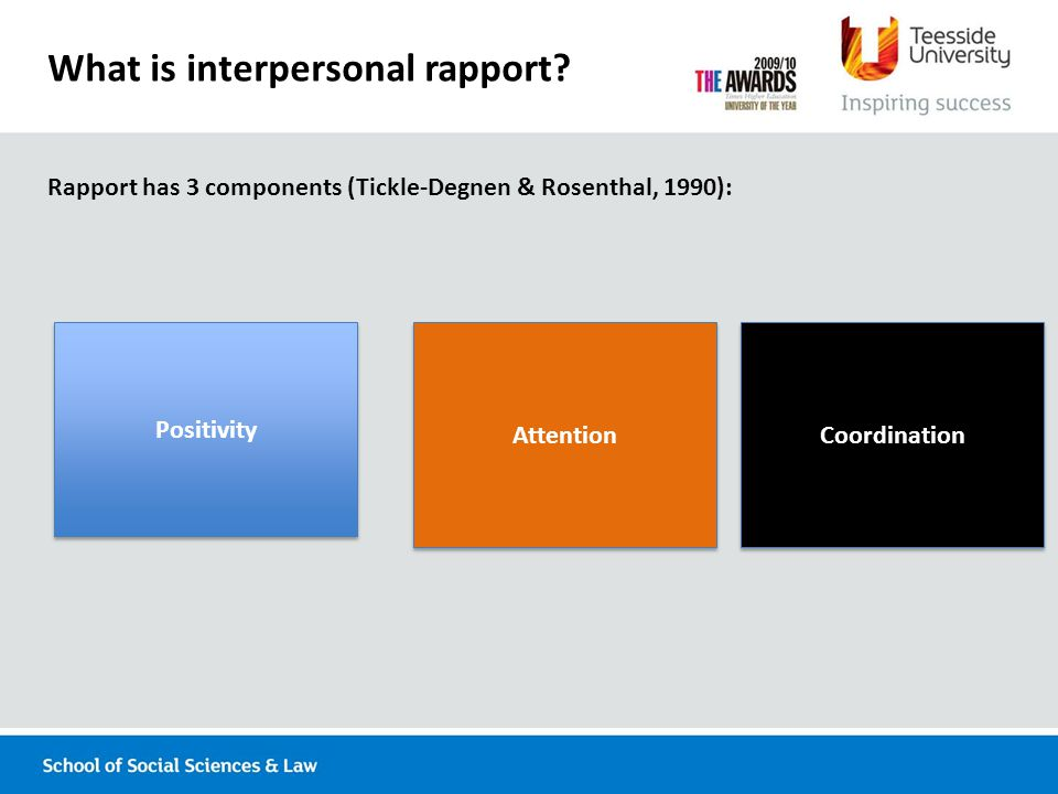 What is interpersonal rapport.