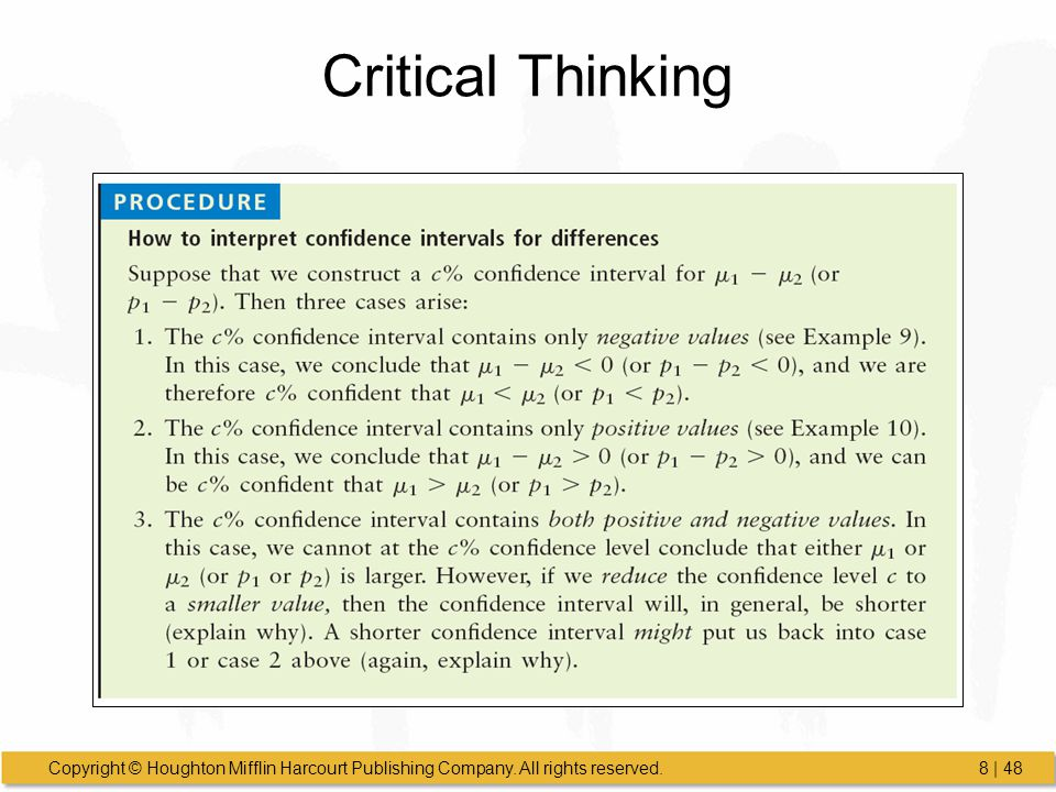 Copyright © Houghton Mifflin Harcourt Publishing Company. All rights reserved.8 | 48 Critical Thinking