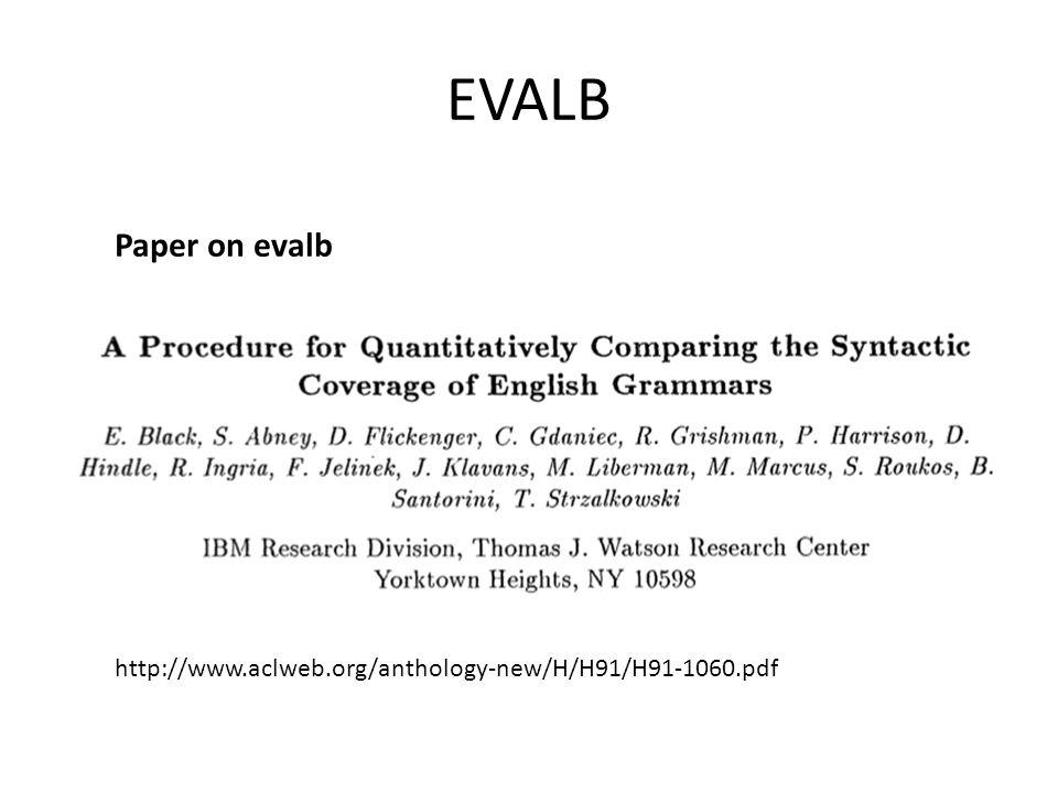EVALB http://www.aclweb.org/anthology-new/H/H91/H91-1060.pdf Paper on evalb