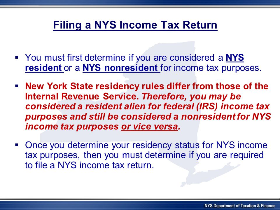 "Presentation ""New York State Department of Taxation and Finance ..."