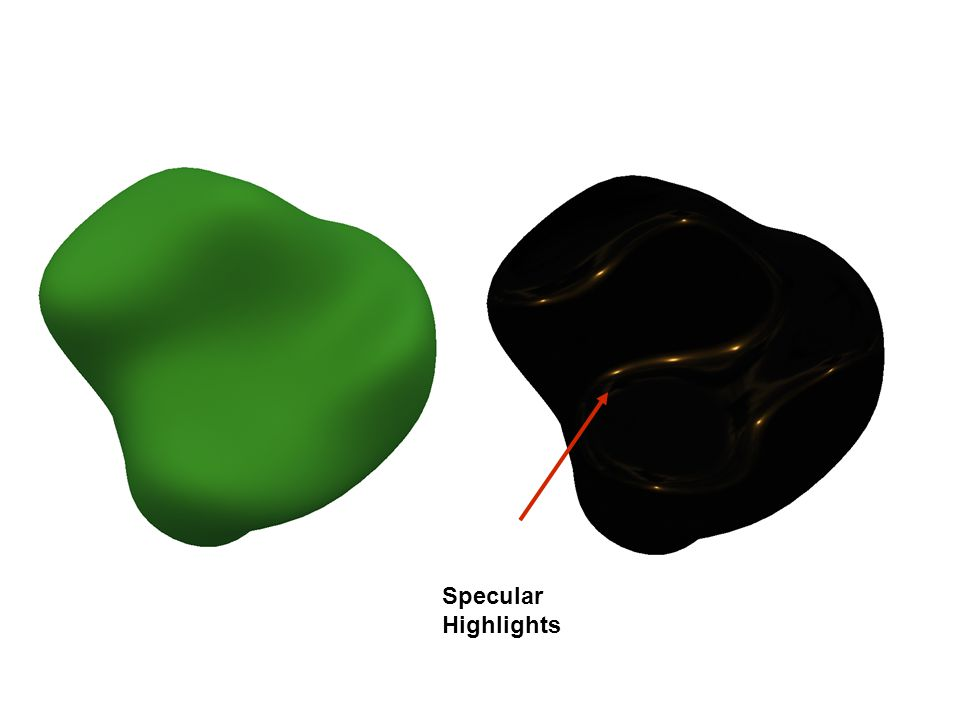 This surface has a combination of diffuse and specular components.