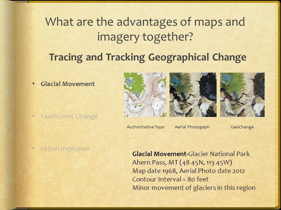 What are the advantages of maps and imagery together.