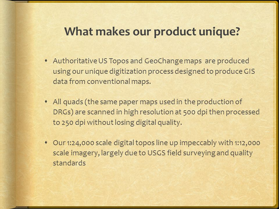 What makes our product unique.