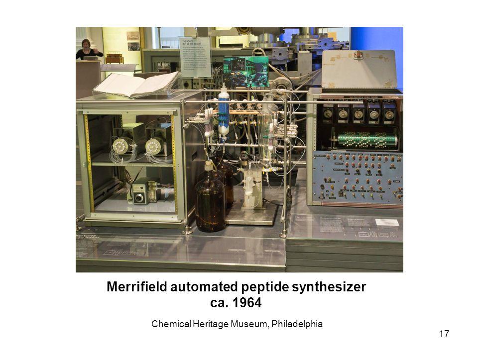 Merrifield automated peptide synthesizer ca. 1964 Chemical Heritage Museum, Philadelphia 17