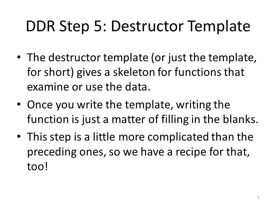 The template recipe QuestionAnswer 1.