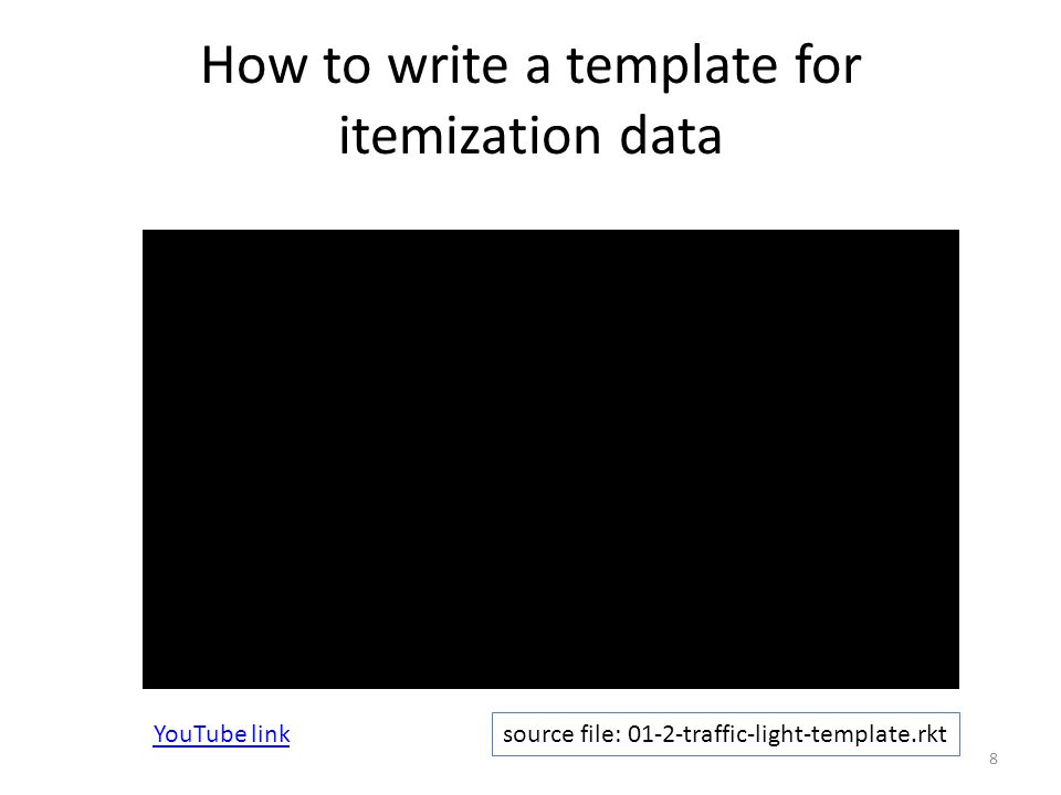 How to write a template for itemization data 8 source file: 01-2-traffic-light-template.rkt YouTube link