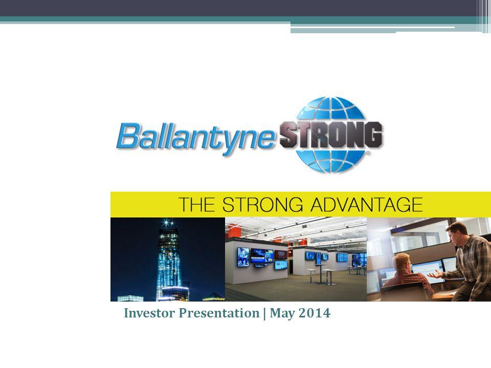 Investor Presentation | May 2014