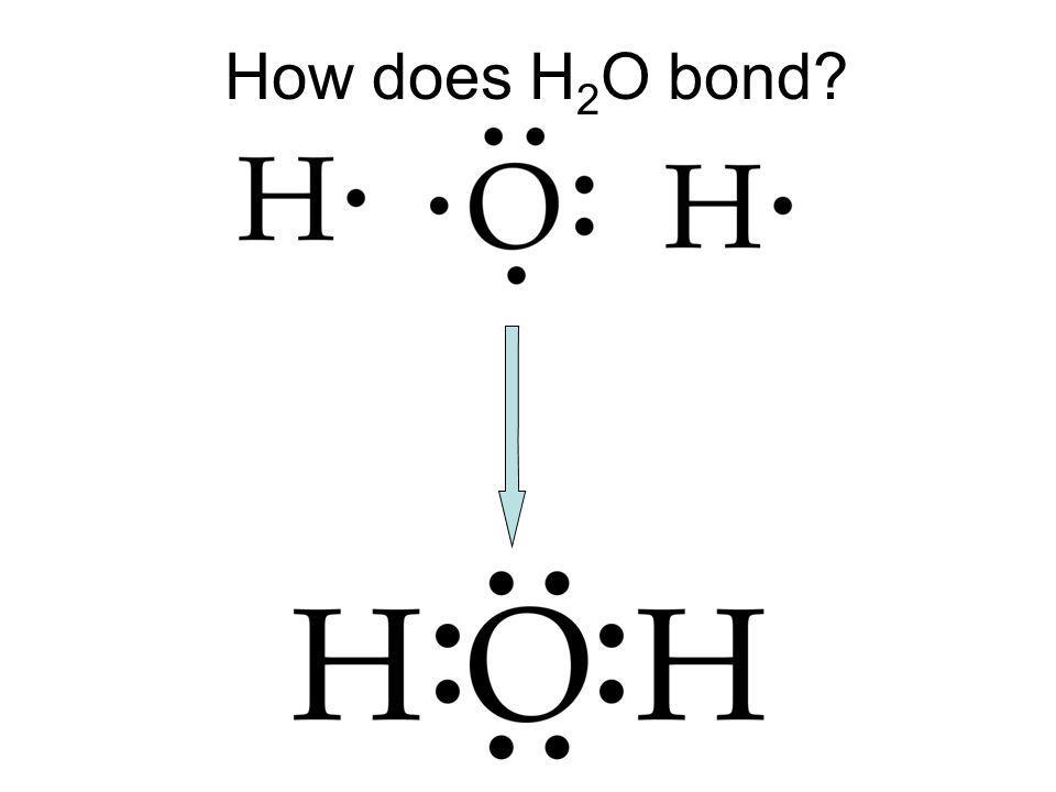 How does H 2 O bond?