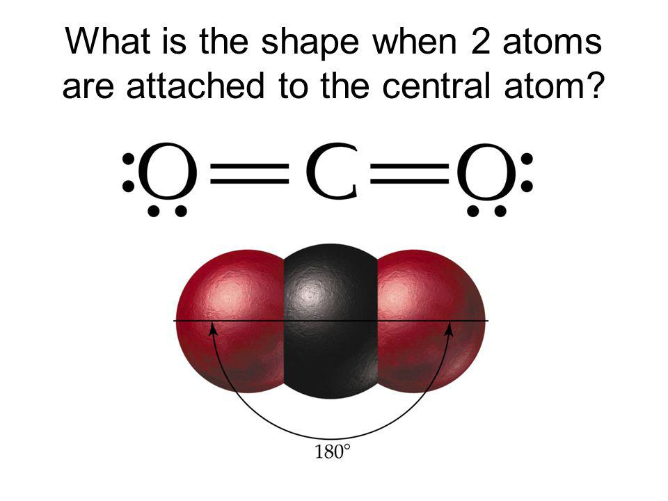 What is the shape when 2 atoms are attached to the central atom?