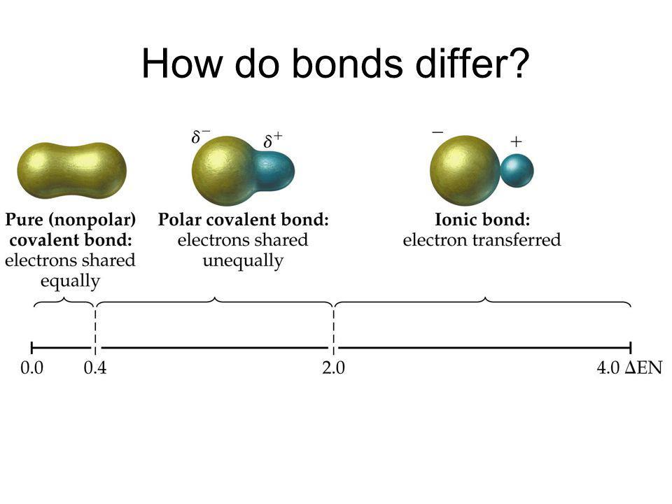 How do bonds differ?