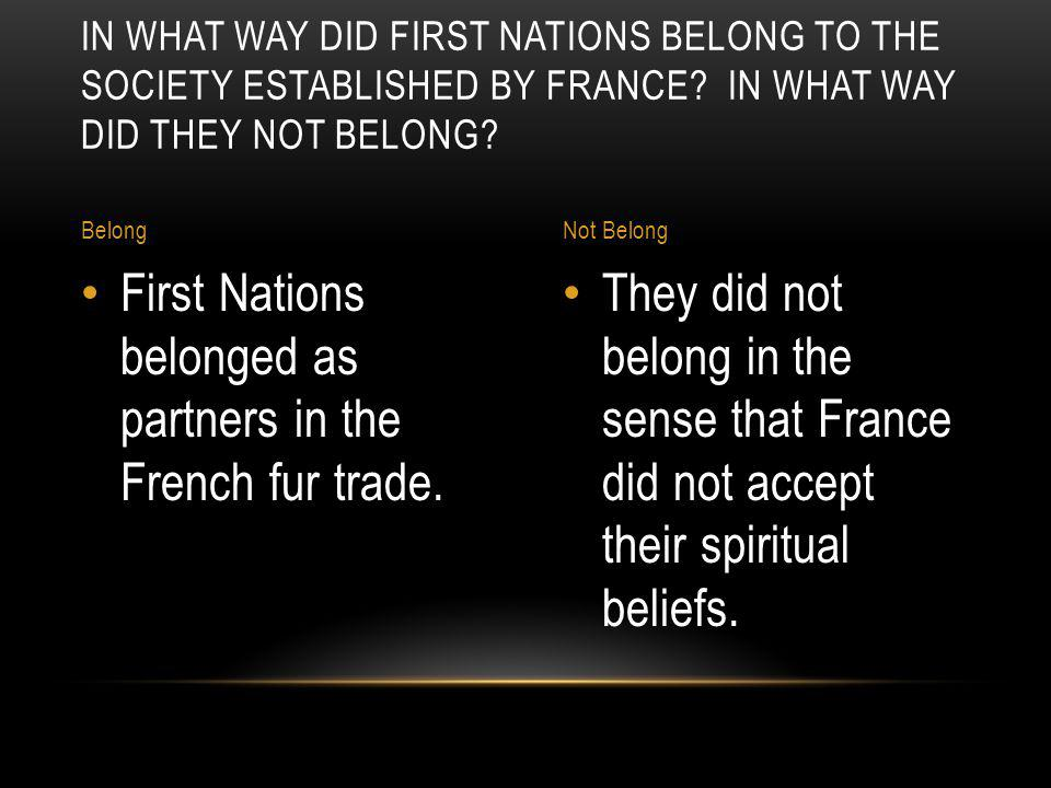 A EUROPEAN FASHION – BEAVER FELT HATS – SPURRED THE DEVELOPMENT OF NEW FRANCE.