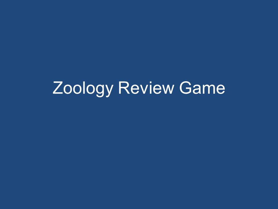 Zoology Review Game