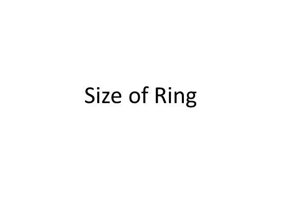 Size of Ring