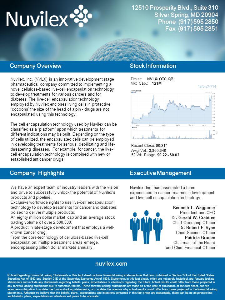 Nuvilex, Inc.