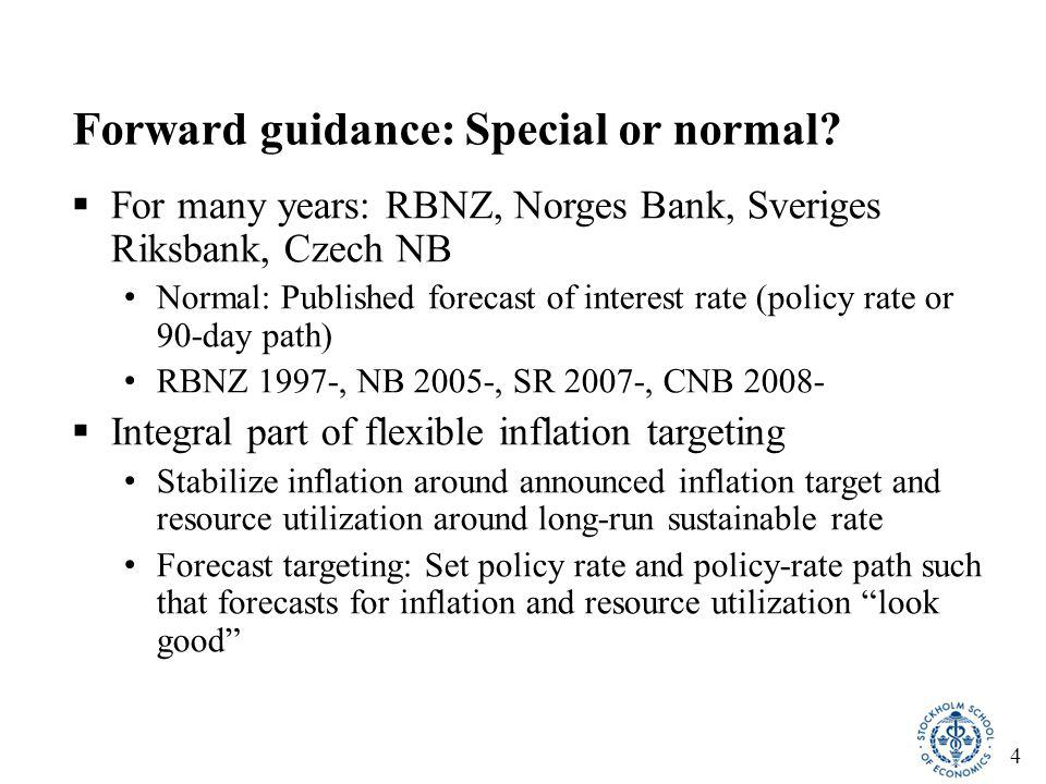 15 Behind the discrepancy: Another discrepancy for foreign policy rates  A lower Riksbank forecast for foreign policy rates would have implied a lower policy-rate path With unchanged policy-rate path, a forecast of stronger krona, the inflation forecast would have shifted down and the unemployment forecast would have shifted up  High forecast of foreign policy rates served to shift inflation forecast up and unemployment forecast down, supporting high policy-rate forecast  Resulted in Riksbank inflation forecasts biased upwards