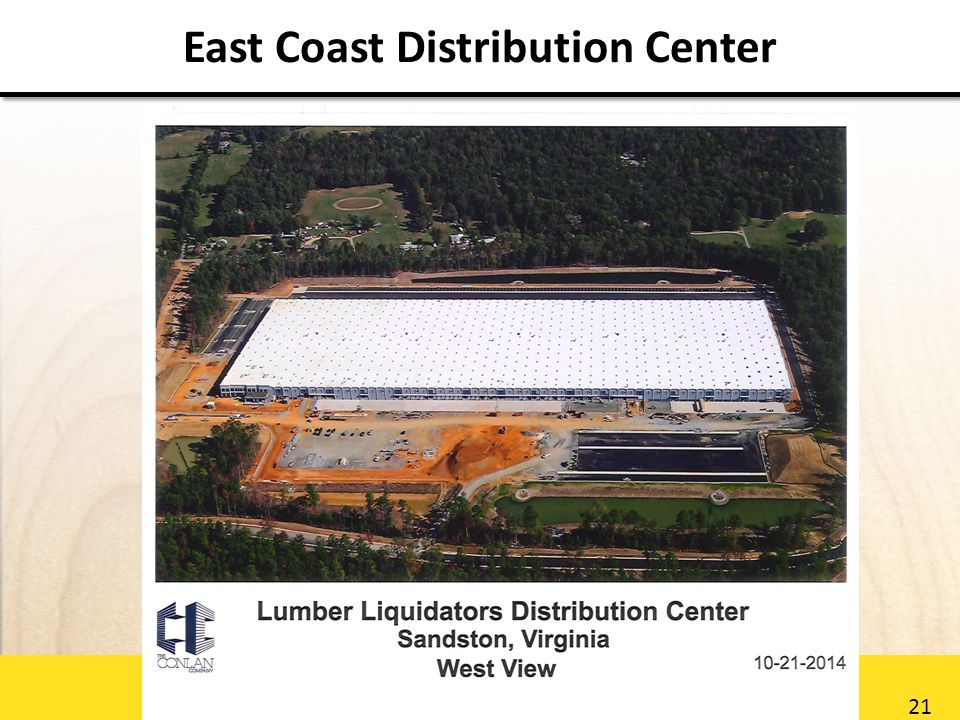 21 East Coast Distribution Center