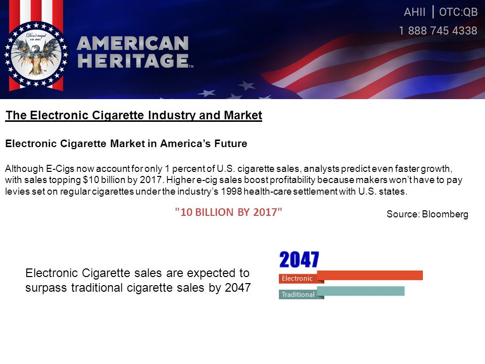 Our Products American Heritage™ brand, which is now available for purchase, consists of four varieties of disposable premium electronic cigarettes.