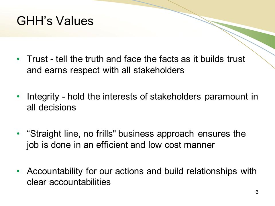 GHH Business Model 1.Assets - Acquire, licence or develop key intellectual assets.