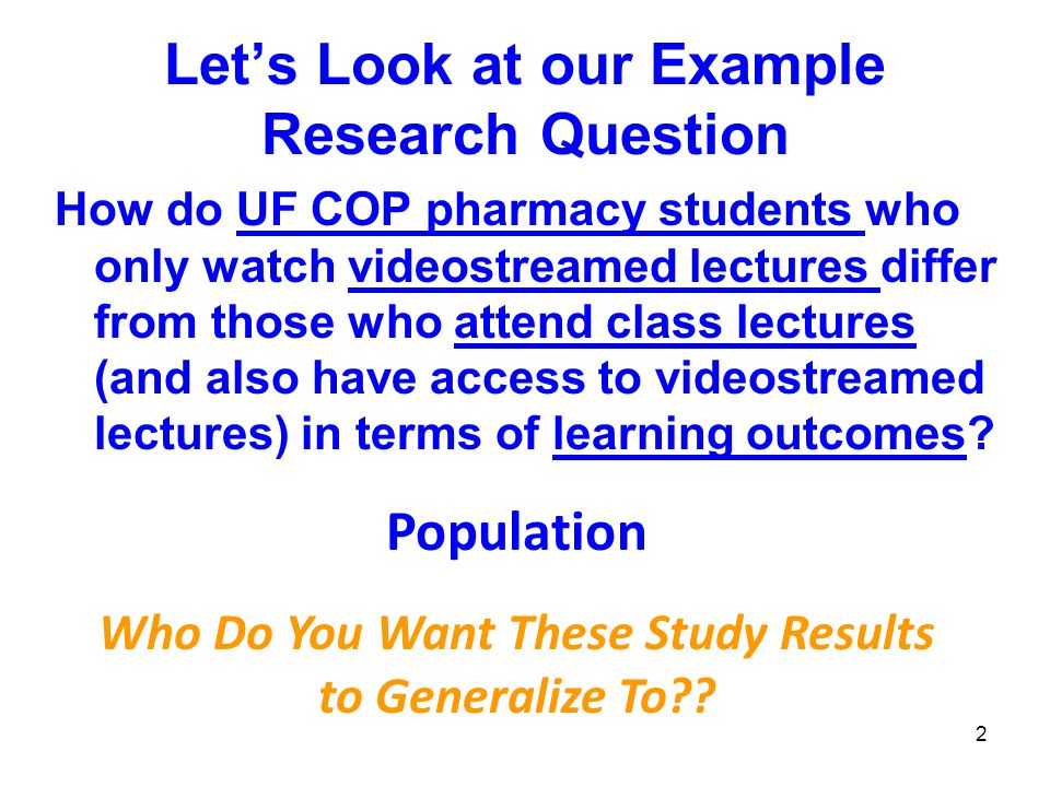 73 What If….It is NOT feasible to use randomization.