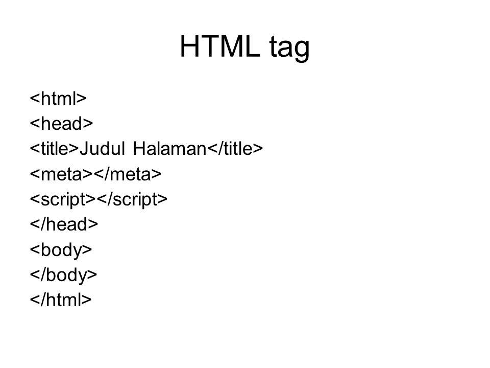 HTML tag Judul Halaman