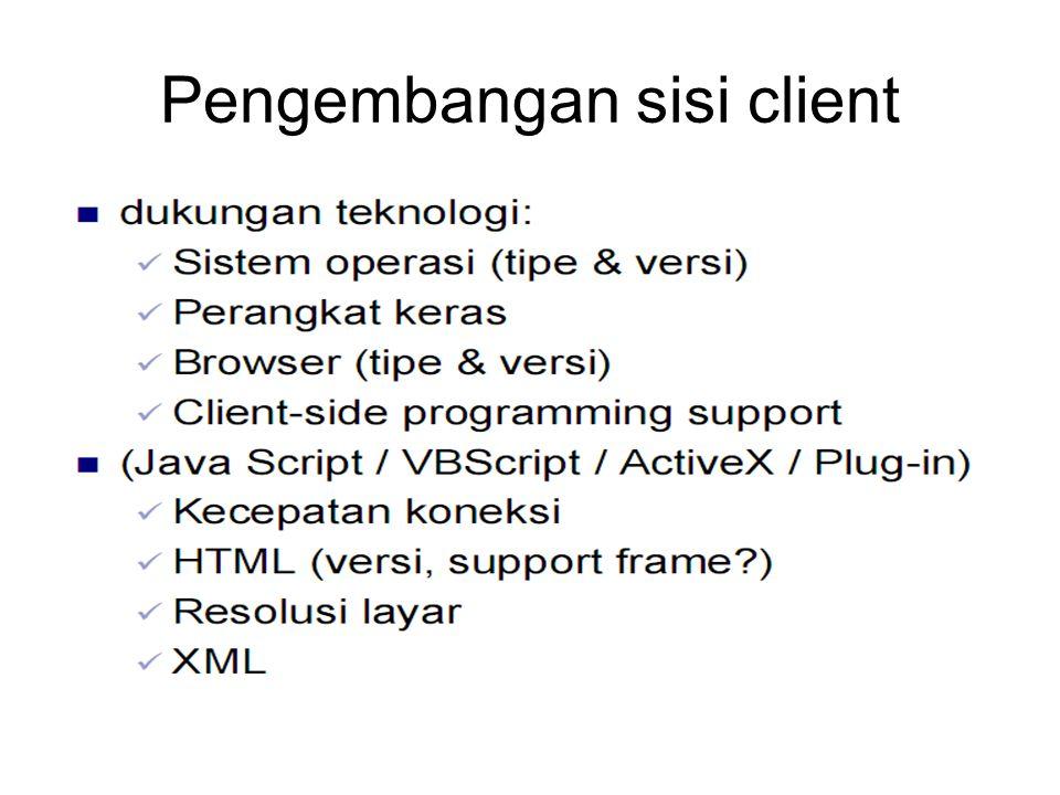 Pengembangan sisi client