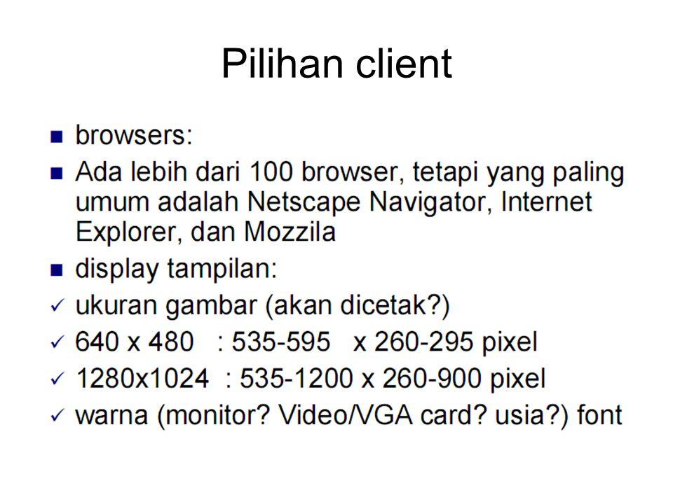 Pilihan client