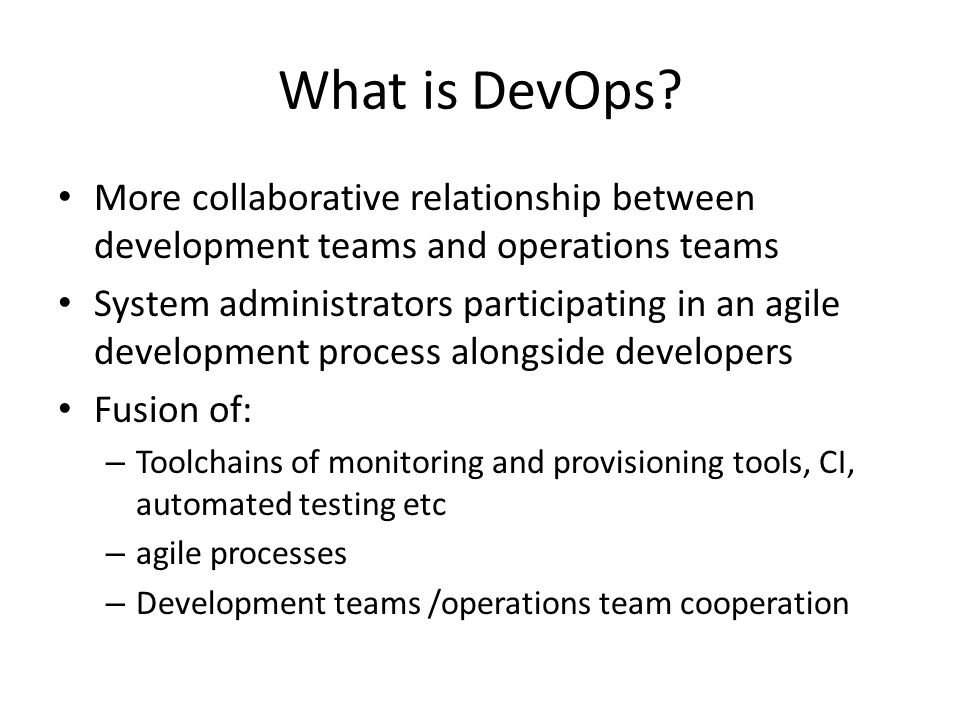 What is DevOps.