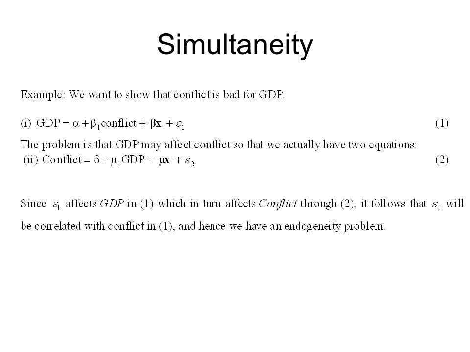 Simultaneity