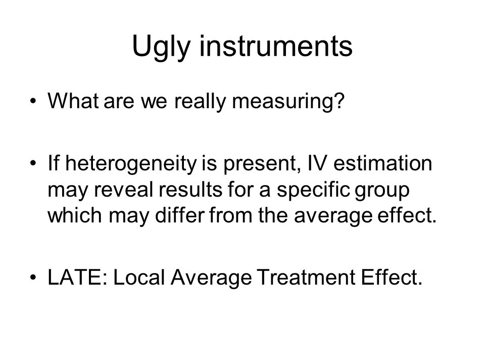 Ugly instruments What are we really measuring.