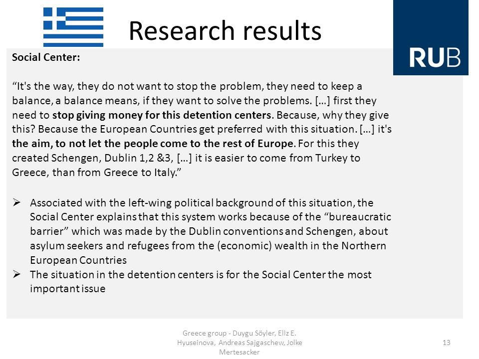 Research results Greece group - Duygu Söyler, Eliz E.