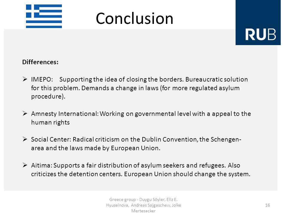 Conclusion Greece group - Duygu Söyler, Eliz E.