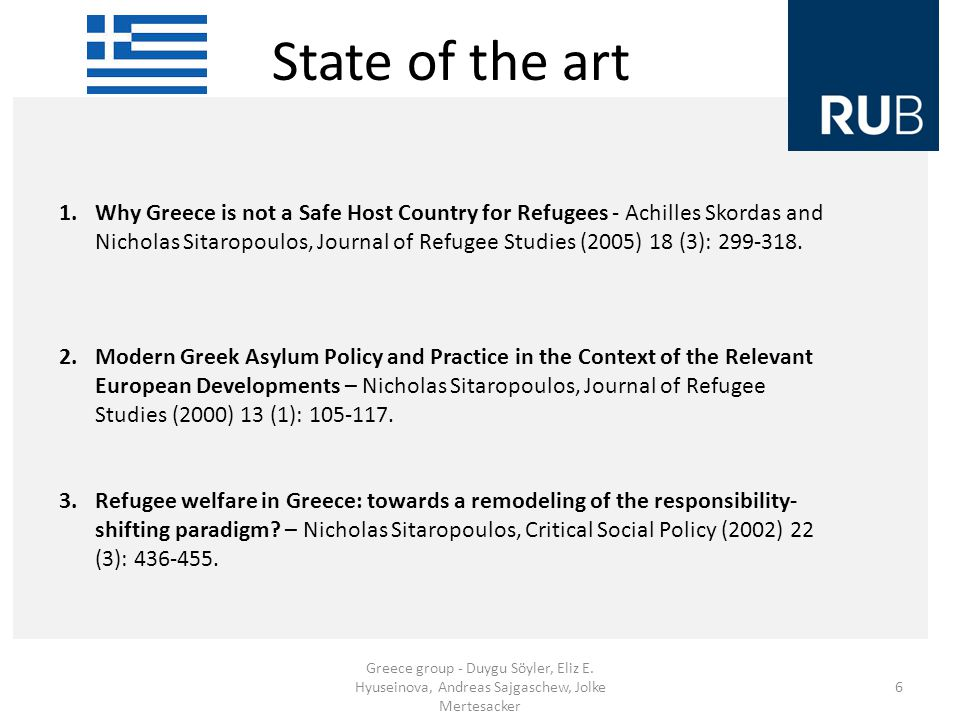 State of the art Greece group - Duygu Söyler, Eliz E.