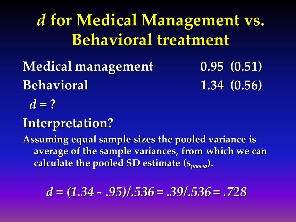 d for Medical Management vs.