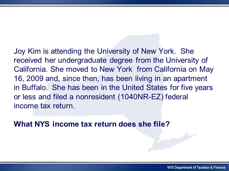 Joy Kim is attending the University of New York. She received her undergraduate degree from the University of California. She moved to New York from C